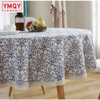 Modern Table Cloth Round Tablecloth Party Wedding Table Cloth for Home Table Decoration Manteles Home Textile H