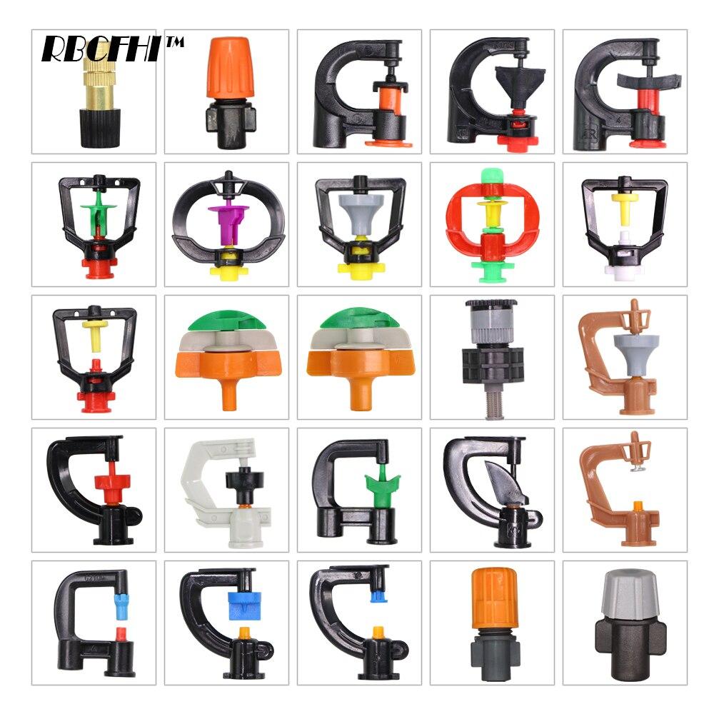 RBCFHI ID-6.0/7.5mm Garden Micro Watering Sprinklers 24 Varieties Of Rotating Refraction 360 180 Degrees Nozzle Spray Mini Spray