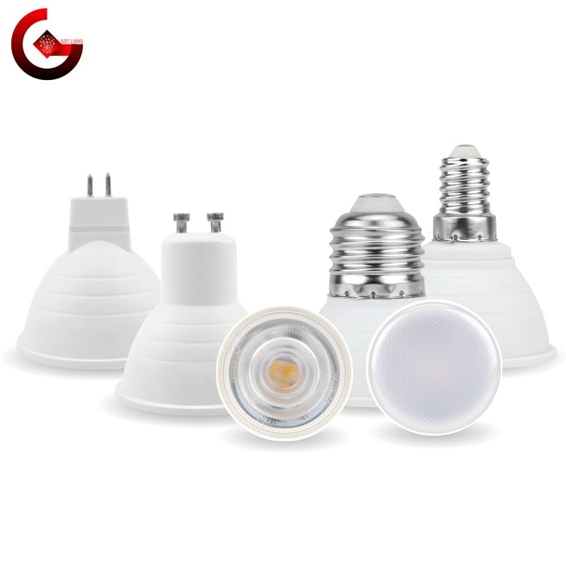 MR16 GU10 E27 E14 Lampada LED Bulb 6W 220V Bombillas LED Lamp Spotlight Lampara LED Spot Light 24/120 Degree Cold/Warm White