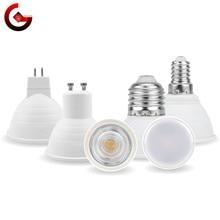 Mr16 gu10 e27 e14 lampada lâmpada led 6w 220v bombillas conduziu a lâmpada spotlight lampara conduziu a luz do ponto 24/120 graus frio/branco morno