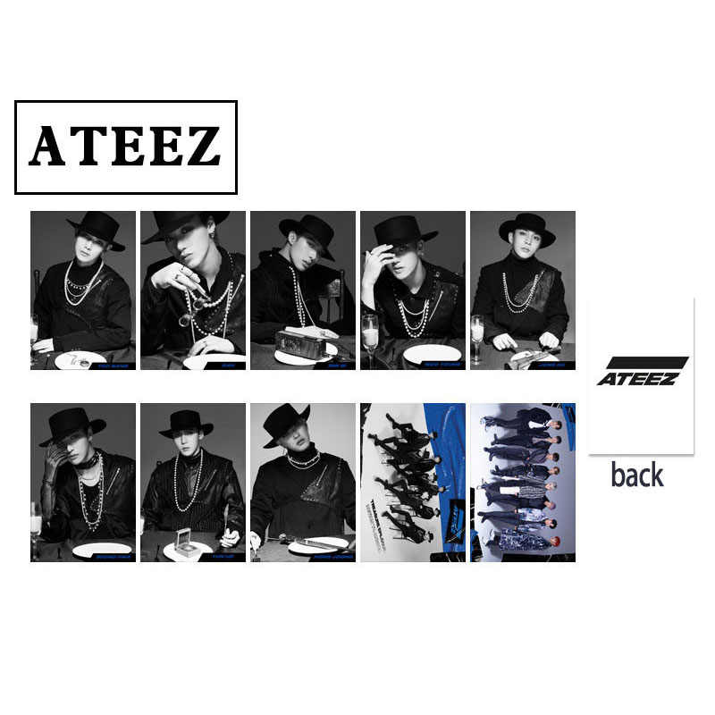 10pcs set LOMO Card ATEEZ TREASURE EPILOGUE Action To Answer Photocard SAN JONG HO HONG JOONG.jpg q50