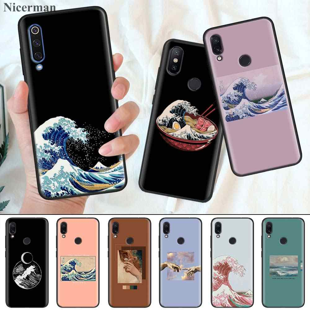 Van Gogh Hokusai The Great Wave Silicone Coque Cover for Redmi 7 7A 6 6A K20 K30 5G Pro Note 8 7 7S 6 Case