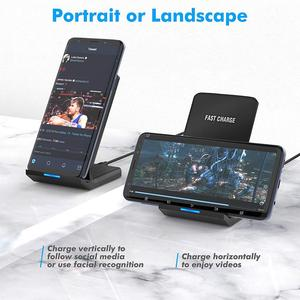 Image 2 - FDGAO Qi Wireless Charger Stand For iPhone 11 Pro X XS MAX XR 8 Plus Samsung S9 S10 S10E 15W Fast Wireless Charging Dock Station