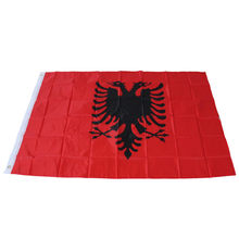 Albania Flag New Arrival Style Double Headed Eagle OUTDOOR INDOOR BANNER ALBANIAN Arms 3X5 feet New Festivals Flags Wholesale #e(China)