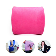 Memory Cotton Neck Pillow Cushion For Back Massager Waist Cushion Chair Cushions Home Office Home Decor Relieve Pain Pillows for of home solid memory pair oval office pads cushions gripped black chair cotton anti slip armrest