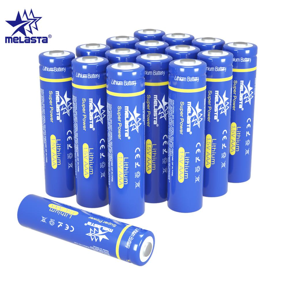 Melasta 16pcs FR03 AAA lifes2 1.5V 1100mAh Lithium Primary Battery for toys MP3 camera electric shaver toothbrush remote clock image