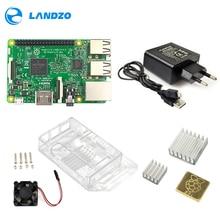 Raspberry Pi 3 Kit de iniciación Modelo B Pi 3, carcasa de acrílico, fuente de alimentación de 2.5A, Cable USB, ventilador, disipador de calor RPI 3