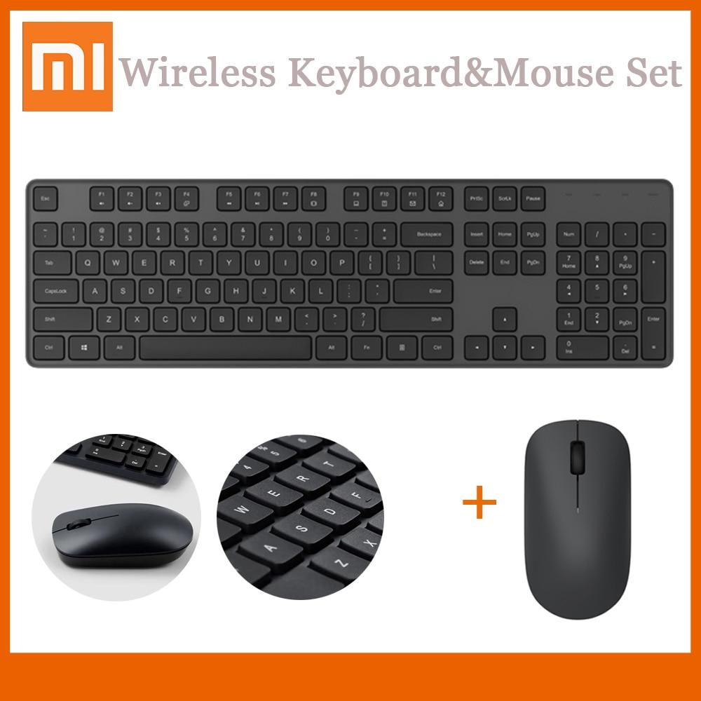 Simple Wireless Keyboard and Mouse Set Stylish Full-Size Keyboard /& Mouse Combo 2.4GHz Wireless Connect