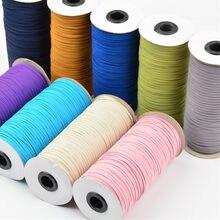 5yards 3mm colour Hight-Elastic Bands Spool Sewing Band Flat Elastic Cord Diy Handmade Sewing Crafts