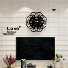 MEISD Creative Geometric Silent Large Acrylic 3D Wall Clocks Digital Modern Style Black Quartz Hanging Watch With Wall Stickers creative geometric flower black wall clock modern design with wall stickers 3d quartz hanging clocks free shipping home decor