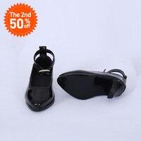 靴 bjd 人形の革の靴のおもちゃミニ人形の靴 1/3 スイッチ bjd 人形 WX3-46 黒/45 ホワイト 3 色人形アクセサリー