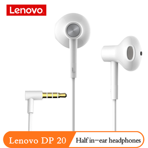 Image 5 - מקורי Lenovo DP20 אוזניות כפול קול יחידה HIFI לבן אוזניות באוזן Wired אוזניות עבור טלפון נייד אנדרואיד Xiaomi Lenovo