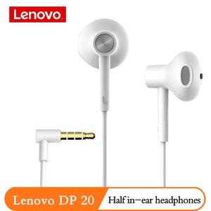 Image 5 - Оригинальные наушники Lenovo DP20 с двойным голосовым блоком, Hi Fi белые проводные наушники вкладыши, мобильный телефон, Android, Xiaomi, Lenovo