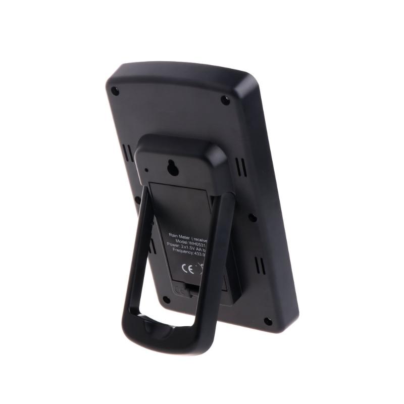 Medidor de chuva sem fio eletrônico medidor