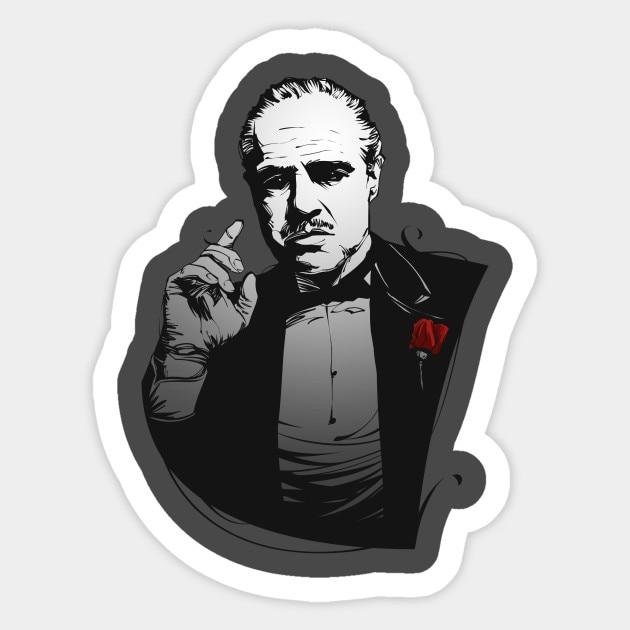 """The Godfather sticker decal 5/"""" X 4/"""""""