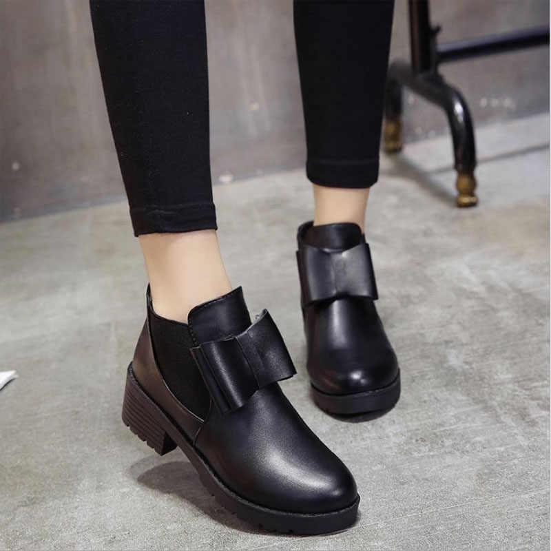 Kadın Elastik Bant Sonbahar Ayak Bileği Chelsea Çizmeler Kare Topuk Platformu kadın ayakkabısı Süper Yüksek Topuklu Kış Kısa Peluş Çizme Bayanlar