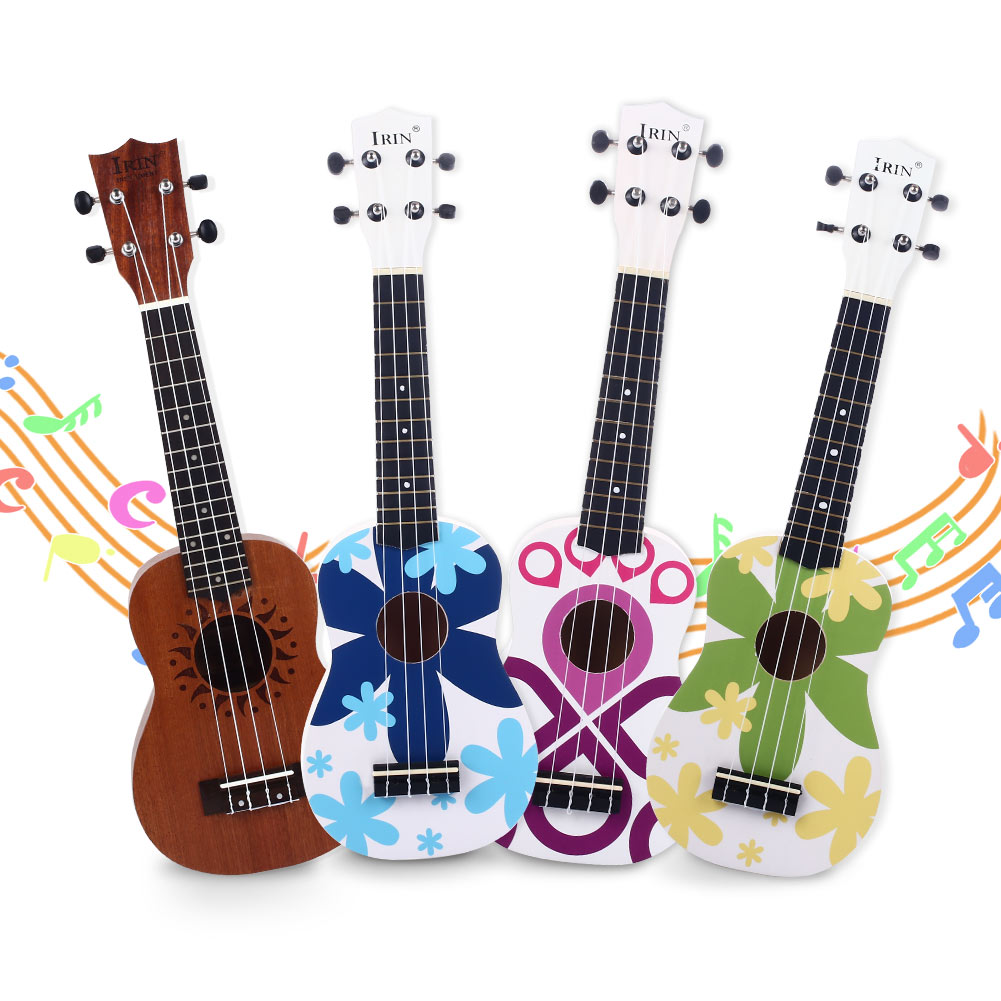 21 Inches Colorful Soprano Ukulele Acoustic Nylon 6 Strings Hawaii Guitar Guitarra Musica Instrument For Kids And Beginners
