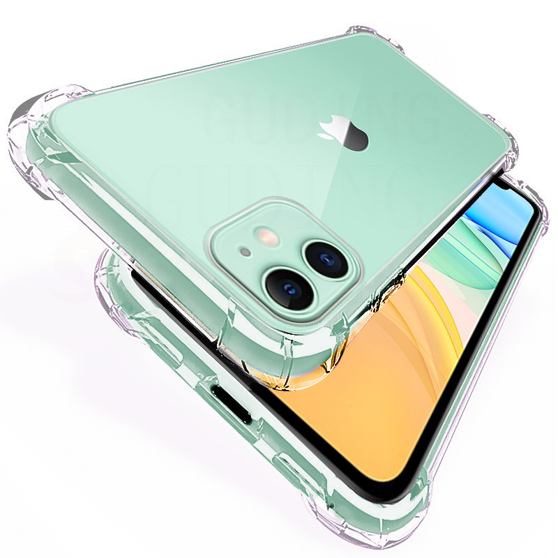 Shockproof Transparent Silicone Case For iPhone 5 5s SE 2020 6 6s 7 8 Plus 11 Back Cover Soft Phone Shell For X Xs Xr 12 Pro Max