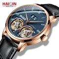 HAIQIN часы для мужчин автоматические механические мужские s часы двойной турбийон винтажные мужские наручные часы Лидирующий бренд Роскошны...