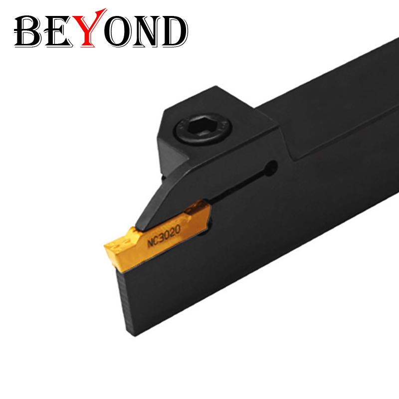 BEYOND MGEHR MGEHR1010 MGEHR1616 MGEHR1212 External Grooving Turning Tool Holder CNC Groove Lathe Cutter Tools Holder Boring Bar