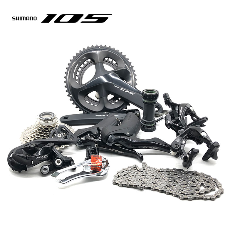 <font><b>shimano</b></font> <font><b>105</b></font> R7000 Groupset R7000 Derailleurs ROAD Bicycle 2x11 speed 50-34 52-36 53-39T 170 172.5MM 12-25,11-28/30/32/34T image