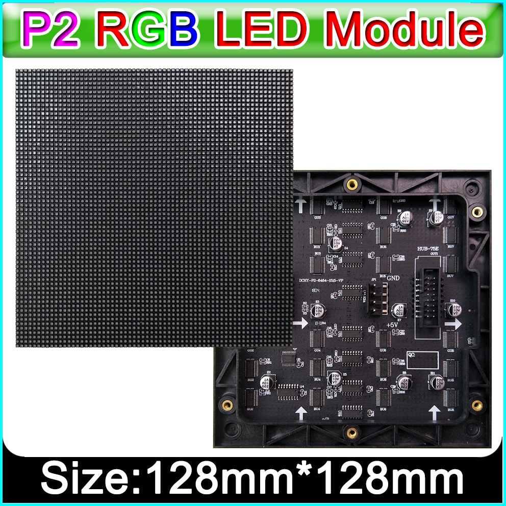 Small Pitch Full Color P2 LED Display Module 128x128mm, SMD P2 Rgb Led Panel Full Color LED Module,Indoor HD Video Wall Module