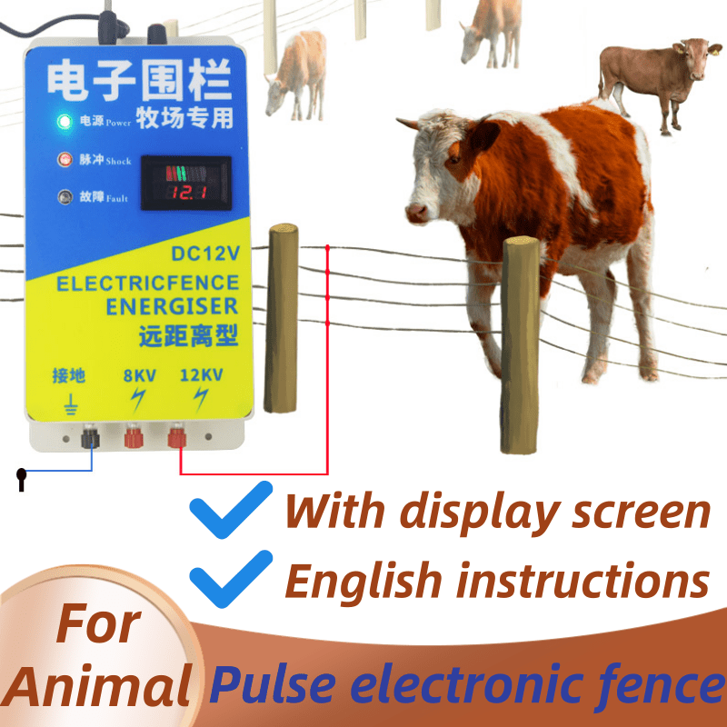 Advanced Versi Solar Electric Fence Energizer Charger High Voltage Pulse Controller Animal Electric Fence Breeding Fence Pastor