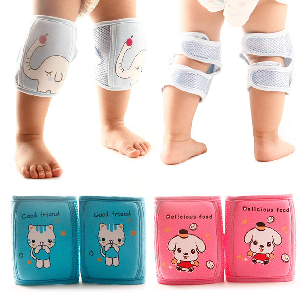 Cartoon Baby Knee Pads Anti Slip Mesh Cushion Crawling Protector Cotton Kids Knee Caps For Grils Boys Leg Warmers