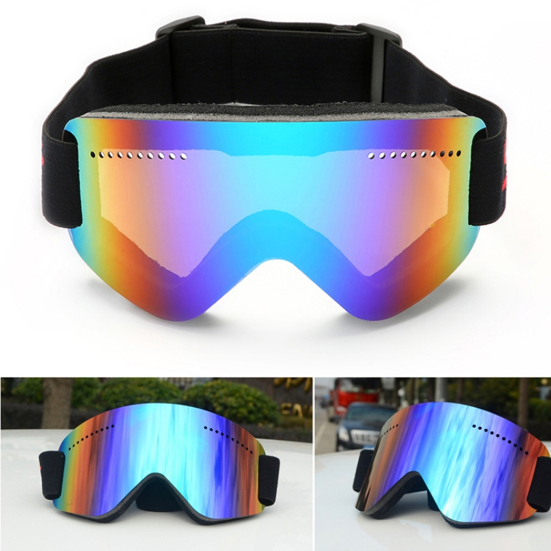 Men Women Ski Goggles Snow Snowboard Motorcycle Goggle Over Glasses Anti-Fog Spherical Len Skiing Snowmobile Eyewear