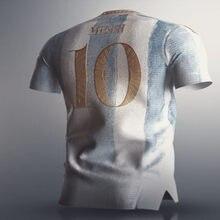 Camicia di alta qualità KUN AGUERO MESSI LO CELSO DYBALA L. MARTINEZ MARADONA DI MARIA OCAMPOS OTAMENDI new 21 22 ArgentinaES Shirt