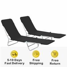 Sunlounger-Set Sun-Beds Outdoor Foldable Modern with Backrest Beach-Chair