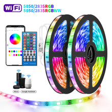 Wifi Led Strips Lights 5050 RGBWW 2835 Bluetooth Led strip Phone App Control Flexible Lamp Tape Ribbon DC12V Adapter For Alexa