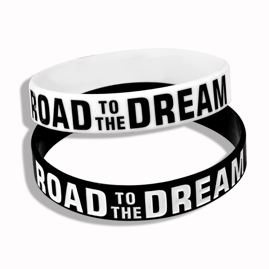 """Road To The Dream"" Soft Silicone Motivational Bracelet Inspirational With Trendy Sports Bracelet for Women Accessories"