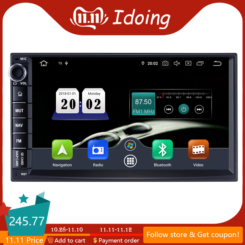 """Idoing 7"""" 2 Din Universal Car Android 9.0 Radio Multimedia Player PX5 4G+64G Octa Core GPS Navigation IPS DSP TDA 7850 NO DVD-in Car Multimedia Player from Automobiles & Motorcycles"""