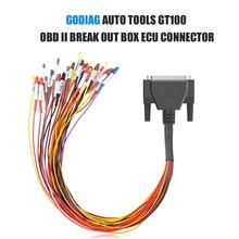 GODIAG كابل توصيل لـ GT100 ، أداة السيارة ، OBD II ، صندوق القطع ، موصل وحدة التحكم الإلكترونية ، لـ GT100