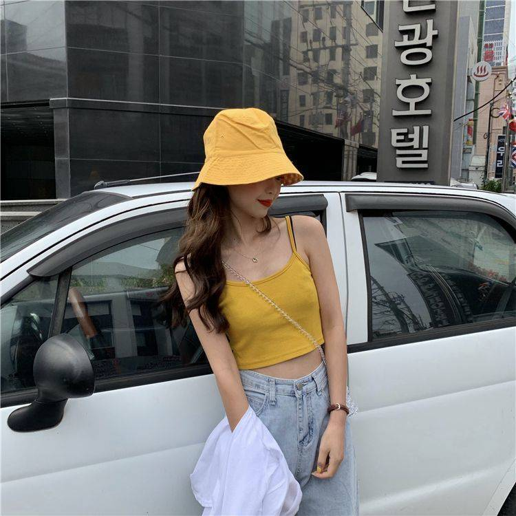 Haee2c55f67db438394da996d6a31c4448 - Crop Top New Fashion Women Sexy Solid Summer Camis Female Casual Tank Tops Vest Sleeveless Cool Streetwear Club High Street