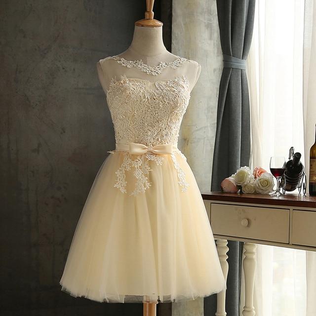فستان صيفي من الدانتيل لحفلات التخرج لعام 2020 فستان نسائي شبكي مع فيونكة فستان وصيفة العروس فساتين حفلات رفيعة من Vestidos متوفر بـ 4 ألوان