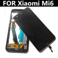 "5.15"" FOR Xiaomi MI Mi6 Mi 6 LCD Display+Touch Screen+tools Replacement Accessories with Fingerprint recognition"