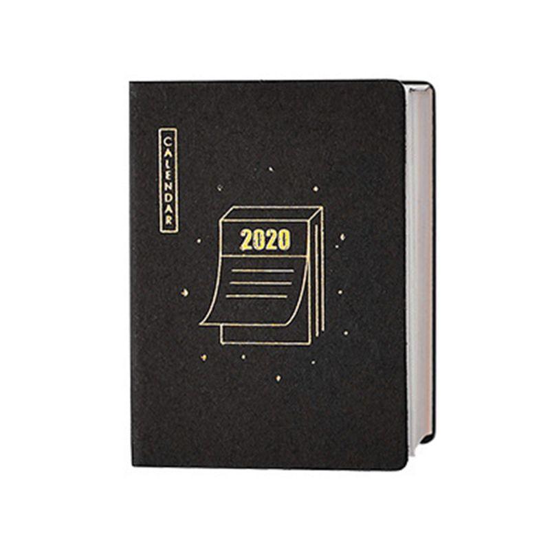 2020 Year Mini Desktop Calendar Sticker Daily DIY Work Office Learning Schedule For Office Stationery Mini Calendar