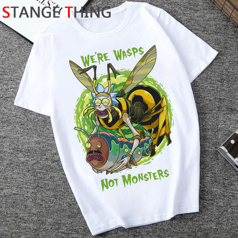 Rick And Morty Season 4 Cartoon T Shirt Men Unisex Ricky N Morty T-shirt Funny Print Grunge Tshirt Fashion Hip Hop Top Tees Male
