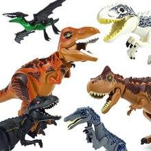 Figuras de dinosaurios del Mundo Jurásico, bloques de construcción, Tiranosaurio Rex i-rex, pterosauro, tiranosaurio, juguete de dinosaurios para montar