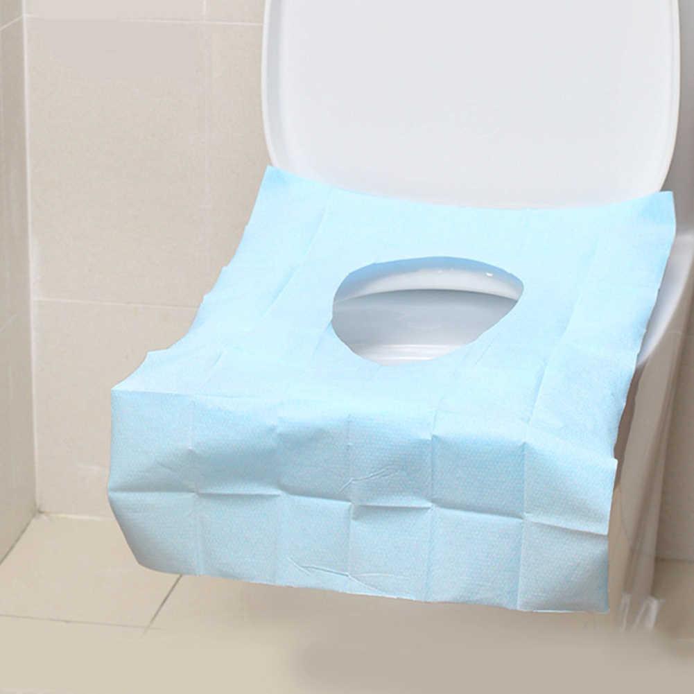10 pcs-jetables Siège de toilette couvre Pack Voyage pour toilettes publiques