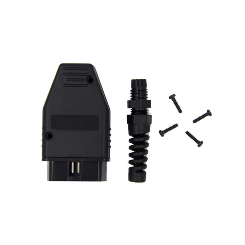 Universal OBDII 16 Pin Male OBD2 OBD 2 Automotive Connector Plug OBDII Socket Connector