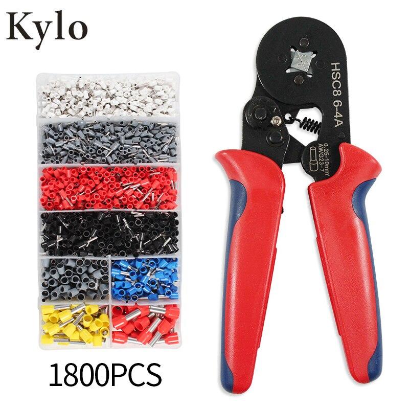Crimper Plier Set HSC8 6-4 0.25-6mm² Self-adjustable Ratchat Wire Crimping Tool