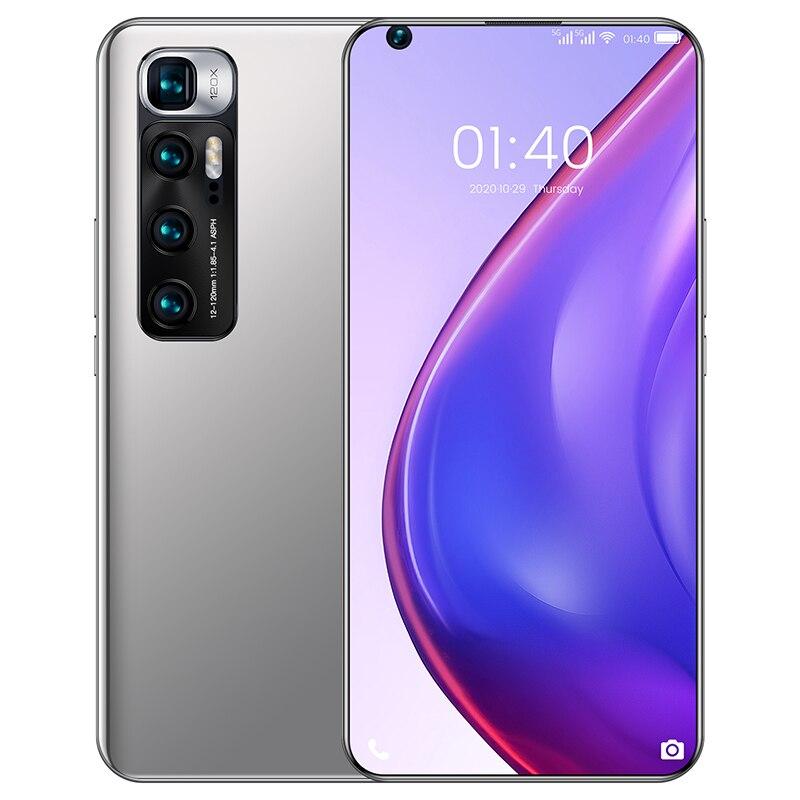 2021 M10 ультра Новое поступление 6000 мА/ч, мобильный телефон 6,8 Inch двойной Камера смартфон 8 + 512 Гб Andriod смартфон Snapdragon 865