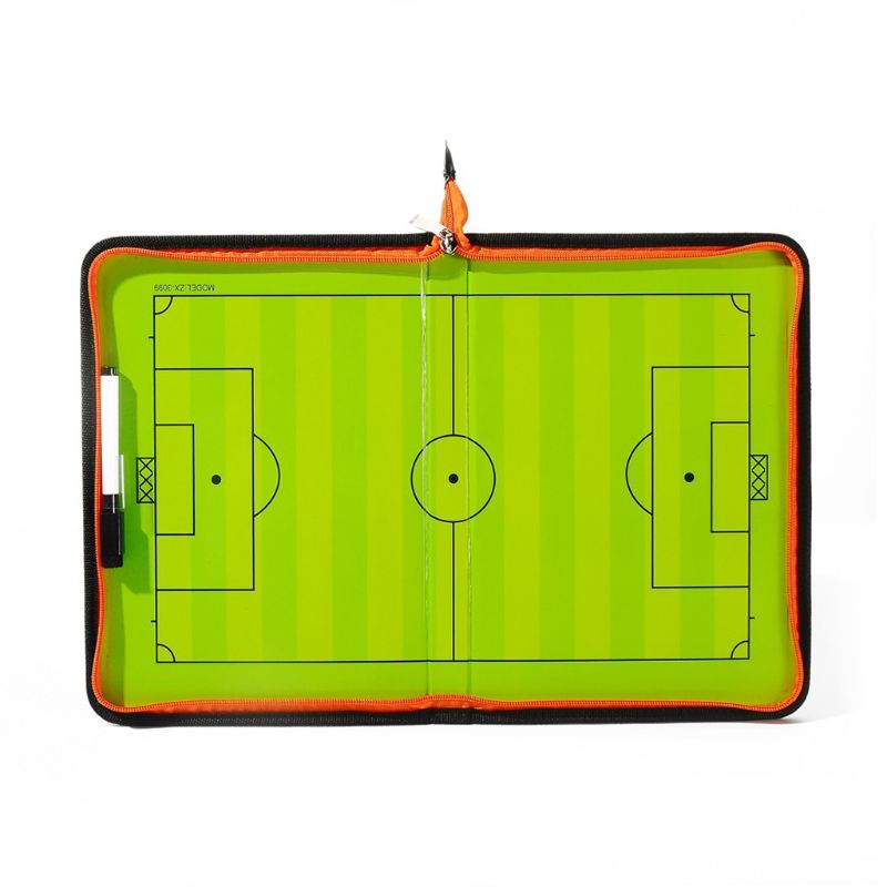 Football Soccer Magnetic Tactic Coach ClipBoard With Dry Erase Zipper And Marker