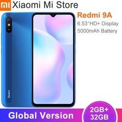 Новая глобальная версия Xiaomi Redmi 9A мобильный телефон 2 Гб ОЗУ 32 Гб ПЗУ MTK Helio G25 Восьмиядерный 6,53 дюйм5000 мАч 13MP камера смартфон