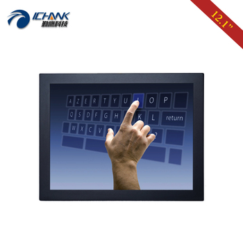 """B120TC-DUV2/12"""" 1024x768 4:3 Metal Case Wall-mounted Industrial Touch Monitor/12"""" inch Embedded DVI VGA Touch LCD Screen Display"""