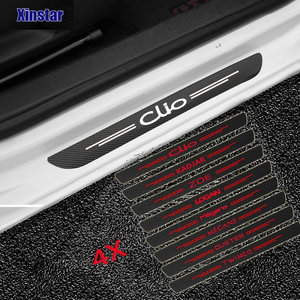 4pcs Carbon fiber car Sticker for Renault Dacia Clio ZOE duster Megane TWINGO Logan KADJAR scenic sandero Car tyling