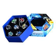 7 pçs/set Moda jóias anel Anéis Anéis Vongola Katekyo Hitman Reborn Sawada Tsunayoshi Anime Cosplay para mulheres Dos Homens caçoa o Presente